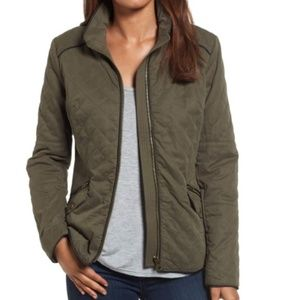 NWT KUT FROM KLOTH DIAMOND QUILTED JACKET OLIVE